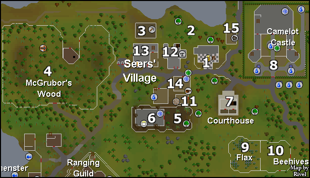 Seers' Village - Map of Seers' Village locations