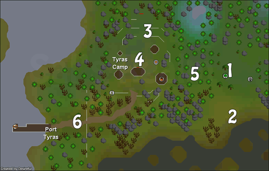 A map of Tyras Camp