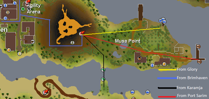 Routes to tzhaar