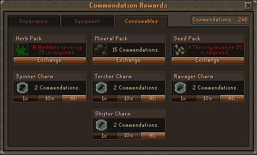 Void Knights' Outpost - Commendation Rewards: Consumables