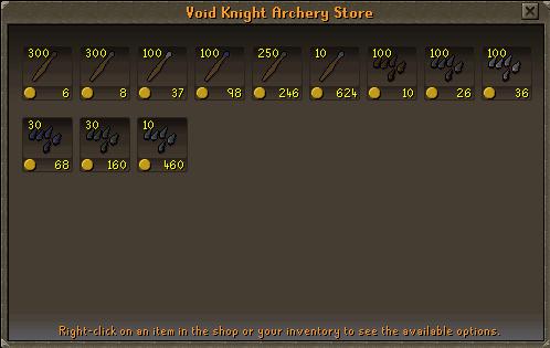 Void Knights' Outpost - Void Knights' Archery Store