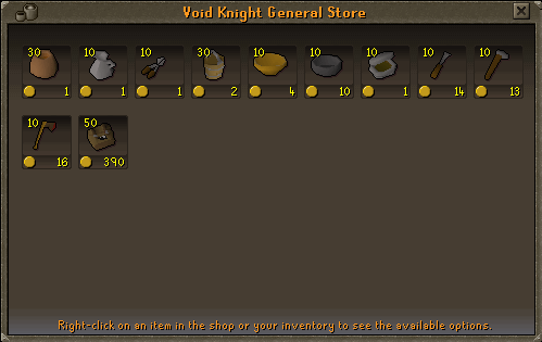 Void Knights' Outpost - Void Knight General Store