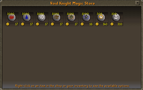 Void Knights' Outpost - Void Knight Magic Store