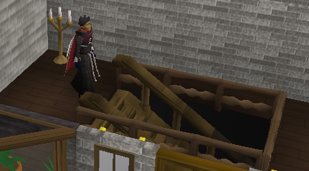 The entrance to the yanille dungeon