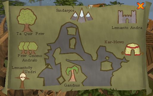The Gnome Glider Map