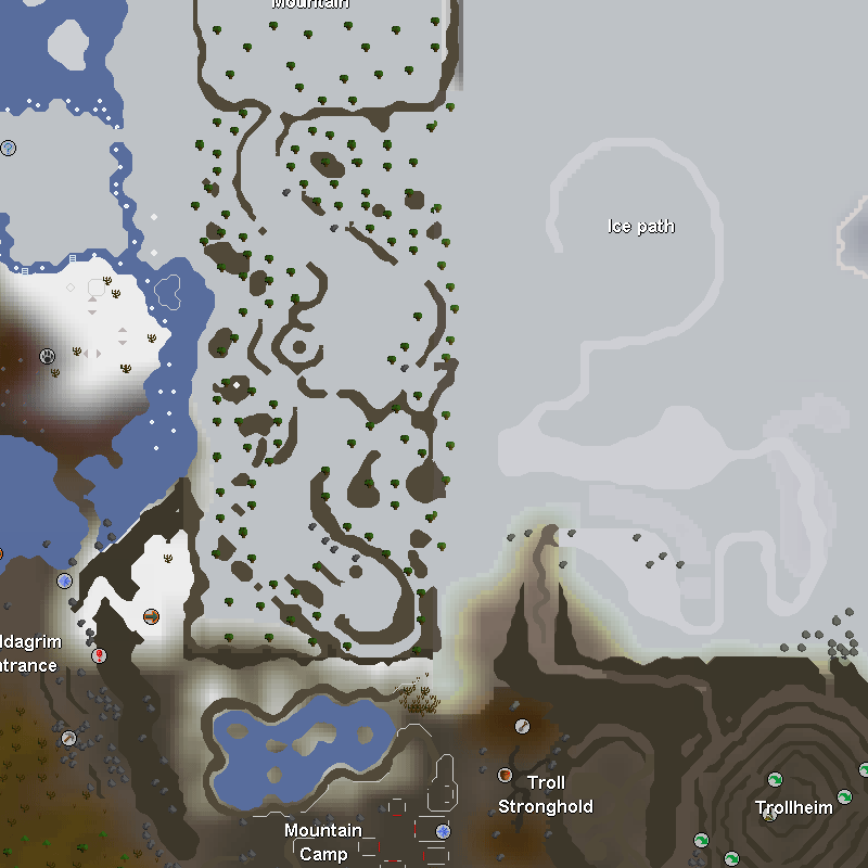Snow Hunter Area, Ice Path, Keldagrim Entrance, Mountain Camp, Troll Stronghold and Trollheim