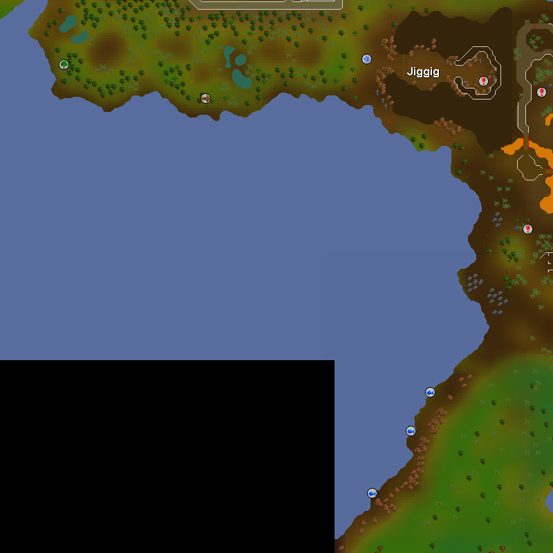 Jiggig and the Chompy Hunting Area south of Castlewars