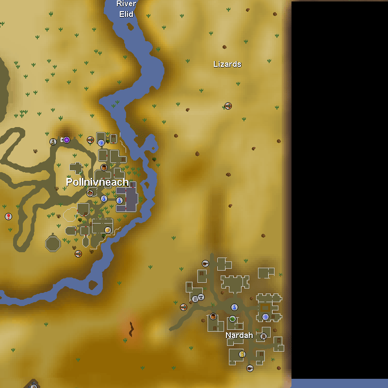 River Elid, Lizards, Pollnivneach and Nardah