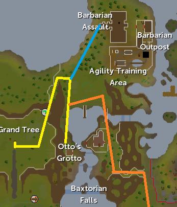 Routes to Otto's Grotto