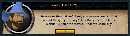 Zavistic Rarve: How does that help us?