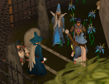 Clarence's burial ceremony outside of the Wizard's Guild