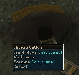 Climb-down the cart tunnel