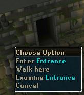Enter through the entrance