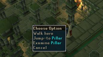 Jump to the pillar