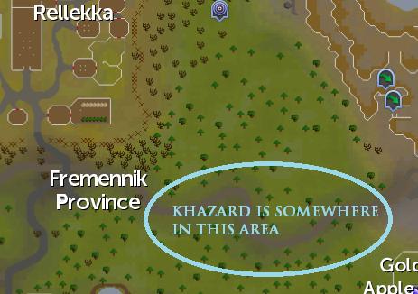 General Khazard's location