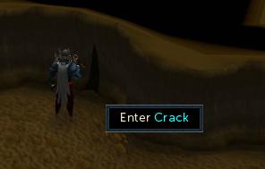 Enter through the crack