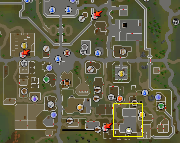 Map of the Zamorak Mage's location in Varrock