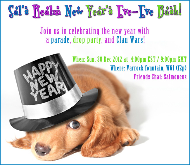 You are invited to Sal's Realm New Year's Eve-Eve Bash on Dec 30, 2012!