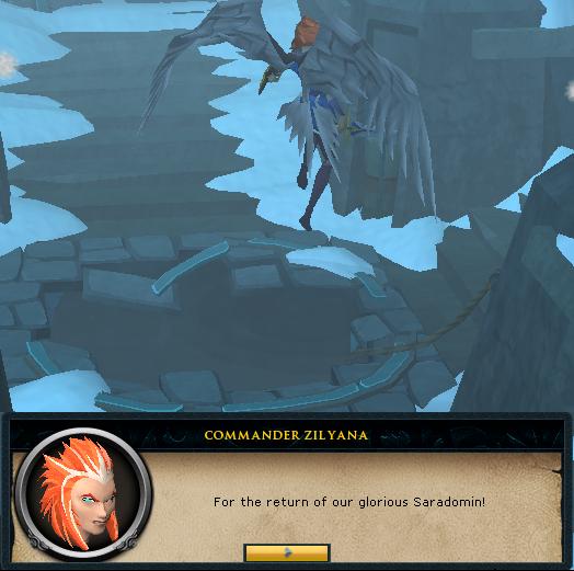 Commander Zilyana escaping the God Wars Dungeon