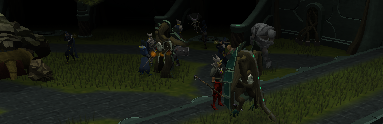 The Saradominist forces attack!