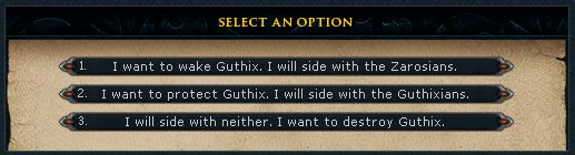 Choosing a side