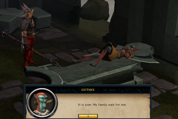 The death of Guthix, the God of Balance