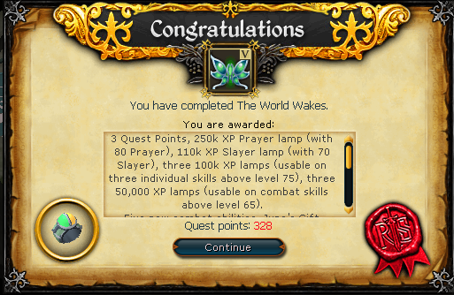 Congratulations! Quest complete!