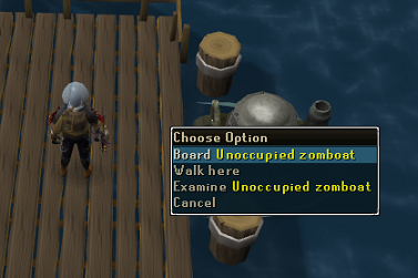 Board Unoccupied zomboat