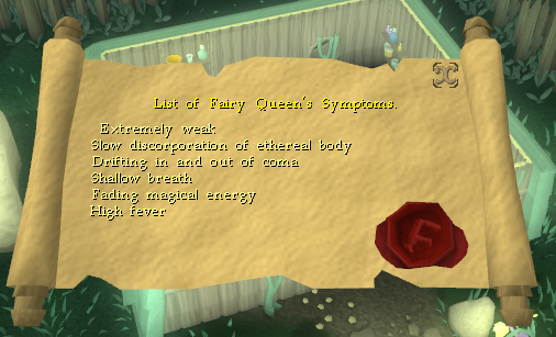 List of Fairy Queen's Symptoms