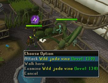 Attack wild jade vine