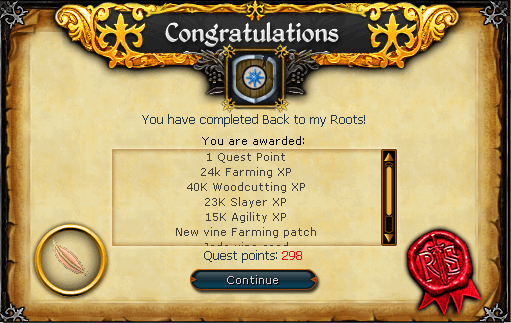 Congratulations! You have completed Back to My Roots!
