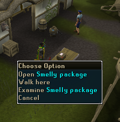 Open smelly package