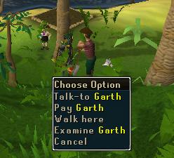 Talk to garth
