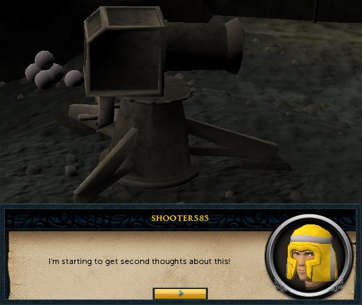 Oh dear... a human cannon!