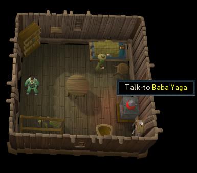 Begin by talking to Baba Yaga