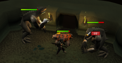 Fighting some vicious Dagannoth Sentinels
