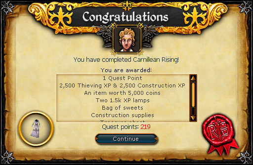 Congratulations! You have completed Carnillean Rising!