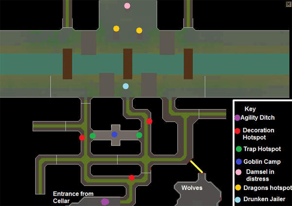 Carnillean Rising - Map of the sewer