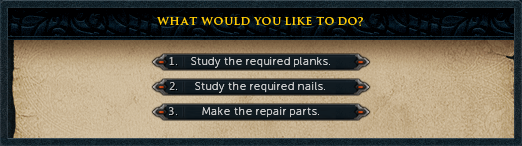 Make the repair parts.