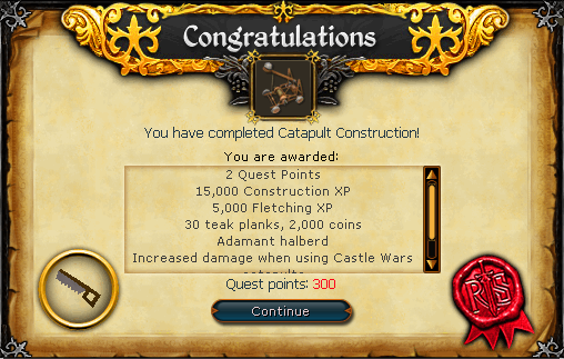 Congratulations! You have completed Catapult Construction!