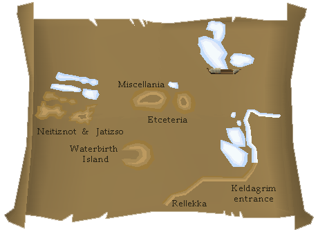 A map of the start point