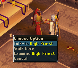 Contact! - 'Talk-to' High Priest