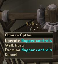 Operate Hopper Controls