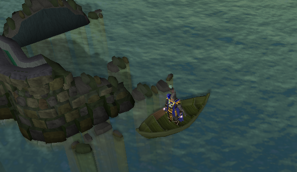 Darkness of Hallowvale - Dock the boat near the climbable rock