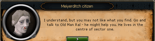 Darkness of Hallowvale - Meiyerditch Citizen: I understand, but you may not like what you find.
