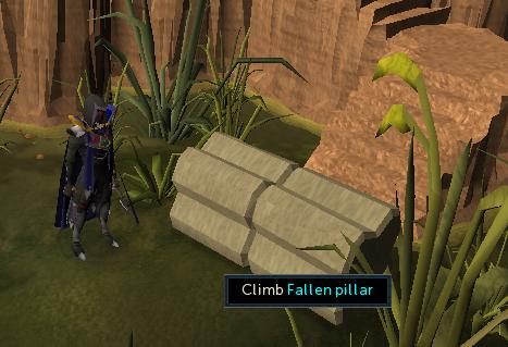 Climb fallen pillar