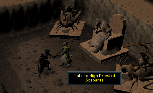 Talk to high priest of Scabaras