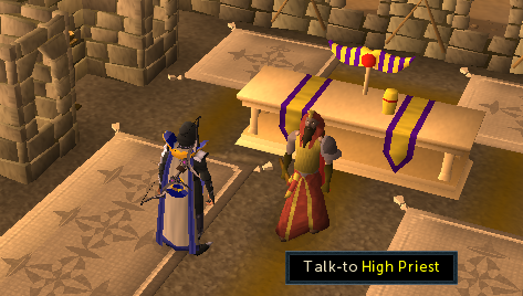 Talk to high priest