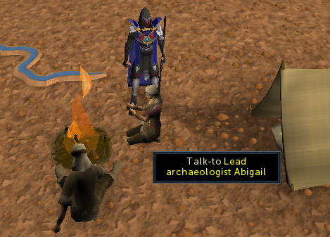 Talk to lead archaeologist abigail