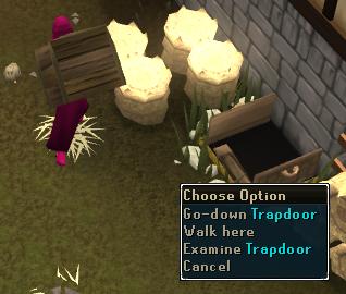 Go down Trapdoor